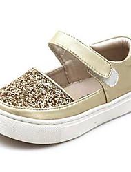 Mädchen-Loafers & Slip-Ons-Lässig-PUKomfort-Silber Gold