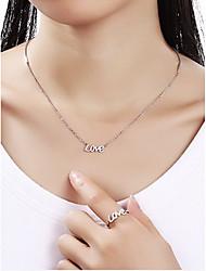 Кулоны Стерлинговое серебро Базовый дизайн Уникальный дизайн Сердце Мода Серебряный Бижутерия Повседневные 1шт