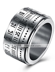 Men's Ring Jewelry Circular Costume Jewelry StainlessSteel Round Jewelry For Daily Casual