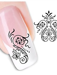 1sheet  Water Transfer Nail Art Sticker Decal XF1463