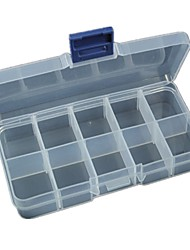 1pcs  10 Grid Storage Box Can Be Split Transparent Plastic Finishing Storage Box Storage Jewelry Box