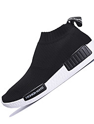Women's Athletic Shoes Spring Summer Fall Winter Light Soles Tulle Athletic Flat Heel Black Green Pink Purple Running