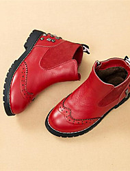 Boy's Sneakers Comfort PU Casual Black Red