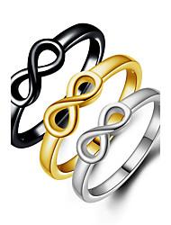 Ringe Hochzeit Party Besondere Anlässe Alltag Normal Schmuck Aleación Bandringe Ring Mittelfingerring 1 Stück,6 7 8 9 10 Schwarz Silber