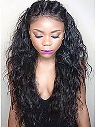 vague perruques vierges brazilian dentelle vague de cheveux avant pour femme en blanc dentelle frontale perruques de cheveux humains avec