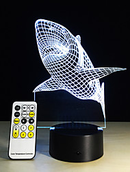 Haifischzahn 3d LED-Nachtlicht Acryl bunte Kinder Baby Schlafzimmer usb Tischlampe Geschenk für Geburtstag Weihnachten