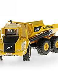 Construction Vehicle Toys Car Toys 1:87 Metal ABS Plastic Yellow Model & Building Toy