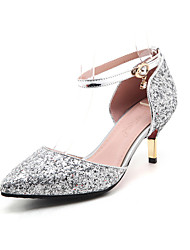 Women's Heels Spring Summer Fall Other PU Wedding Dress Casual Stiletto Heel Buckle Red Silver Gold