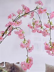 1 Une succursale Soie Cerisier du Japon Guirlande et Fleur Murale Fleurs artificielles
