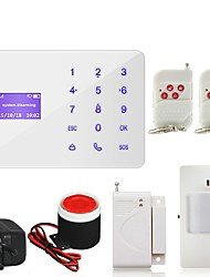 433MHZ  Safearmed Touch Keypad GSM Home Security Alarm System Remote Control Timely Arm Disarm Russian Spanish Hungarian Voice