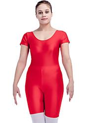Ballet Gymnatics Women's Children's Training Nylon Lycra 1 Piece Short Sleeve Unitard
