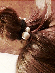 3 Pcs Balls First Artifact Wire Jointless Pearl Ring Hair Like Rubber Bands