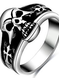 Ringe Party Halloween Alltag Normal Schmuck Titanstahl Herren Statementringe Ring 1 Stück,6 7 8 Wie in der Abbildung angezeigt