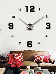 Wall Clock Clocks Watch Horloge Murale Diy 3d Acrylic Mirror Large Home Quartz Circular Needle Modern