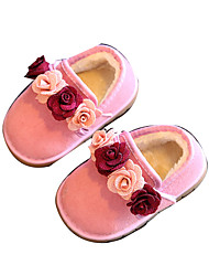 Girls' Baby Boots First Walkers Snow Boots Synthetic Winter Casual Outdoor First Walkers Snow Boots Black Fuchsia Blushing Pink Flat