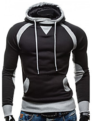 Men's Casual/Daily Simple Hoodie Solid Round Neck Micro-elastic Cotton Long Sleeve Spring Fall