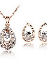 Kristall Aleación Weiß Purpur Blau 1 Halskette 1 Paar Ohrringe Für Party 1 Set Hochzeitsgeschenke
