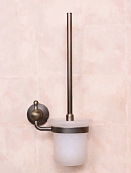 Toilet Brush Holder / Antique CopperBrass Stainless Steel Glass /Antique Toilet Brush Include