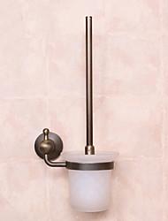 Toilet Brush Holder / Antique CopperBrass Stainless Steel Glass /Antique Toilet Brush Include
