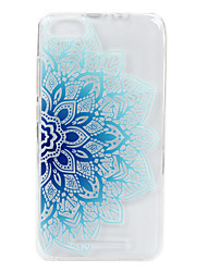For Wikon Lenny3 phone Case Blue Flower Lace Embossed Pattern TPU Material High Penetration