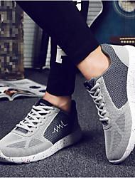 Men's Sneakers Comfort Fabric Casual Blue Gray Running
