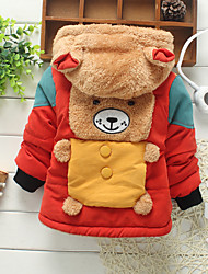 Boy's Fashion Cute Bear with Hooded Thick Coat