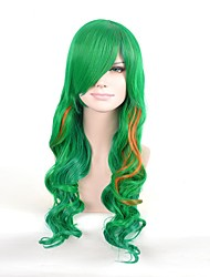 Cosplay Wigs Prince Fairytale Movie Cosplay Green Solid Wig Halloween Christmas Carnival Unisex Silk