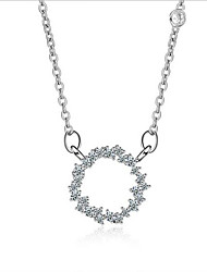 S925 silver sea Ring Pendant Necklace