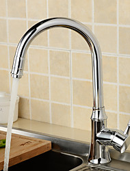 360 Degree Swivel Solid Brass Kitchen Mixer Cold And Hot Kitchen Tap Single Hole Water Tap Kitchen Faucet