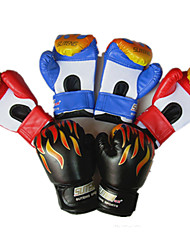 Boxing Gloves Full-finger Gloves Kid's Unisex Breathable Wearable Tactical Protective Boxing PU Red Black Blue