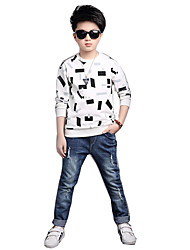 Boy Casual/Daily Plaid Shirt,Cotton Rayon Spring Long Sleeve