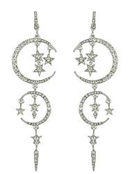 Silver   Black Color Drog  Earrings For Women