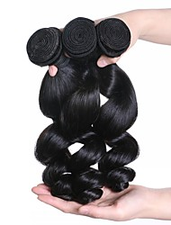 Natural Color Hair Weaves Indian Virgin Hair Loose Wave Extension 10-30inch 3pieces/package