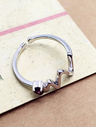 Ring Silver Gemstone Simple Style Silver Jewelry Daily Casual 1pc
