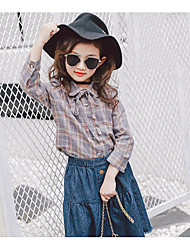 Girl Casual/Daily Print Tee,Cotton Rayon Spring Long Sleeve
