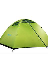 HIMAGET High Quality Double Layer 2 Person 2 Door Outdoor Camping Equipment Waterproof Al Pole Outdoor Trekking Tent