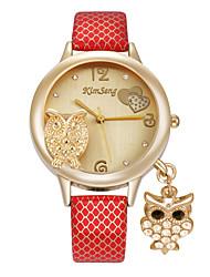 Women's Fashion Watch Wrist watch Simulated Diamond Watch Imitation Diamond Quartz Alloy Band Cartoon Heart shape Casual Elegant Owl