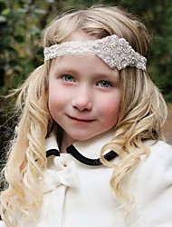 Girls Hair Accessories High Quality Elastic Flax Diamond Crown Hair Band