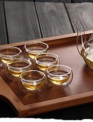 Transparent Klassisch Trinkbecher, 30 ml Wärmeisoliert Doppelwandig Glas Tee Teetassen
