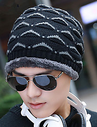 Winter Men 'S Hat Wool Hat Thicken Knit Hat Winter Hooded Head Cap