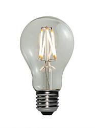 4W E27 Ampoules Globe LED A60(A19) 4 COB 360 lm Blanc Chaud Gradable AC 100-240 V 1 pièce