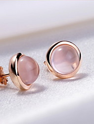 Stud Earrings Jewelry Crystal Copper Hot Pink Jewelry Daily 1pc