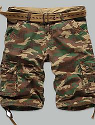 Hommes Grandes Tailles Droite Mince Chino Short Pantalon,simple Street Chic Actif Décontracté / Quotidien Plage SportifCouleur Pleine