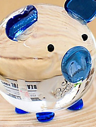 1 PC 2 a crystal glass lucky pig pig lovers Home Furnishing resin handicraft decoration creative gifts