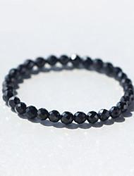 Femme Bracelets de rive Cristal Argent sterling Naturel Simple Style Classique Mode Forme d'Etoile Noir Bijoux 1pc