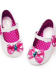 Girl's Flats Comfort PU Casual Pink White