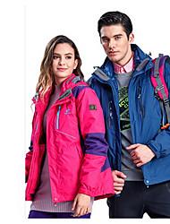 Trilha Blusas Unissexo Forro de Velocino Primavera Outono Inverno Vermelho Azul Marron M L XL Esportes Relaxantes