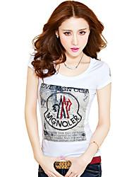 2017 femmes estivale nouveau coton blanc marée de compassion t-shirt à manches courtes femme korean mince à manches courtes