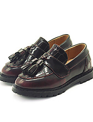 Girl's Boots Comfort PU Casual Black Burgundy