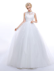 A-line Wedding Dress - Classic & Timeless Elegant & Luxurious Vintage Inspired Lacy Looks Wedding Dresses in Color Floral LaceSweep /